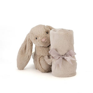 Jellycat-Bashful-Beige-Bunny-Soother-med-band