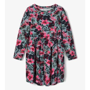 blommig klänning fram