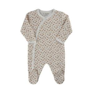 Pyjamas med fötter Fixoni Off White