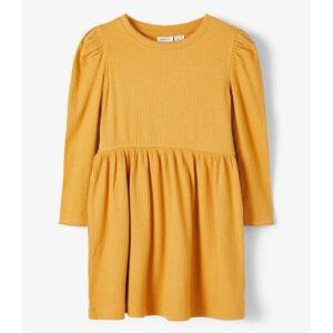 gul klänning ribb