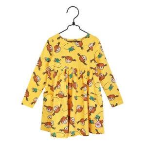 pippi klänning gul